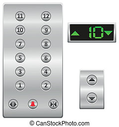 Aufzugknopf-Panelvektor