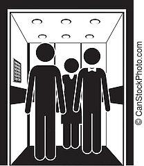Aufzugsdesign.
