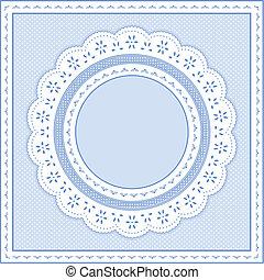 Augäpfel-Lace-Strahlung, Pastellblau