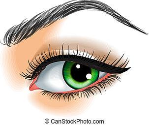 Auge macht Vektor illustriert