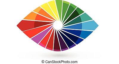 Auge Vision farbenfrohes Verschlusslogo