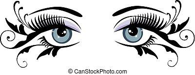 Augen blau.