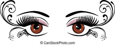 Augen braun.