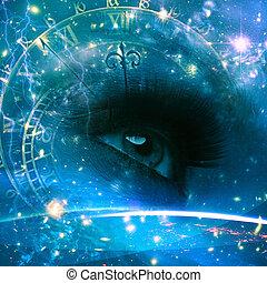 Augen des Universums, abstrakter Umwelt Hintergrund