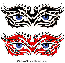 Augen, Stammestätowierung