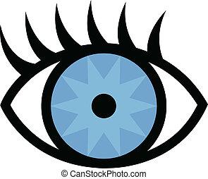 Augen und Wimpern