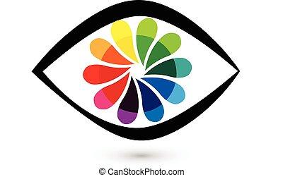 Augenblumen-Logo