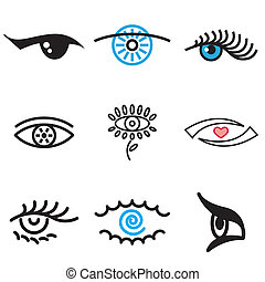 Augenhand gezogene Ikonen
