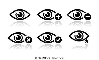 Augenlicht-Ikonen eingestellt - Vektor