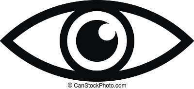 Augensymbol.