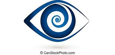 Augenverschluss-Ikonen-Vektorlogo