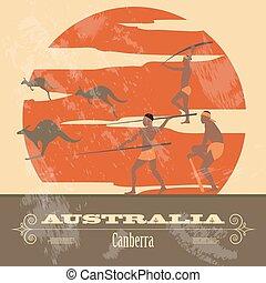 Aus Australien. Retro-Stil