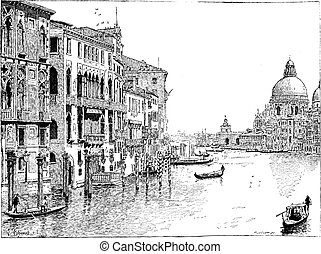Aus dem Grand Canal, Venice, Jahrgang.