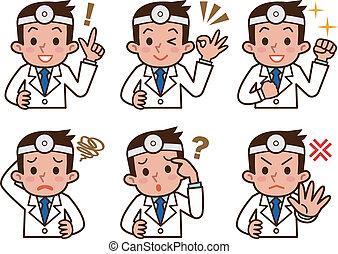 Ausdruck des Arztes.