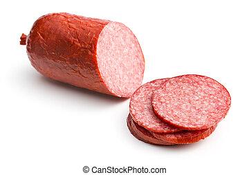 Ausgeschnittene Salami