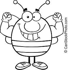 Ausgezeichnete Biene mit Muskelarmen