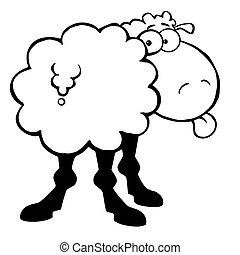 Ausgezeichnete, funky Schafe