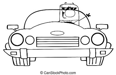 Ausgezeichneter Cartoon-Doodle-Geschäftsmann