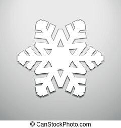 ausschneiden, schneeflocke, weihnachten