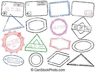 Ausweis oder Briefmarkenset.