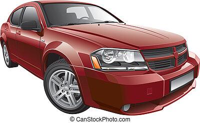 auto, amerikanische , mid-size