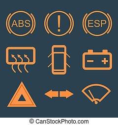 Auto-Dashboard-Ikonen