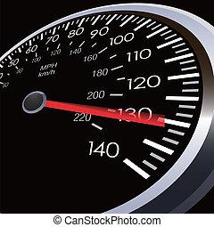 auto, geschwindigkeit, meter