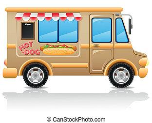 Auto Hot Dog Fast Food Vektor