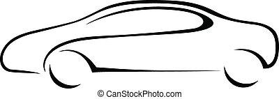 Auto Silhouette für Emblem.
