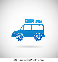 Auto-Symbol Auto Symbol Design Vorlage Vektor Illustration.