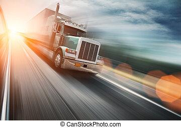 autobahn, lastwagen