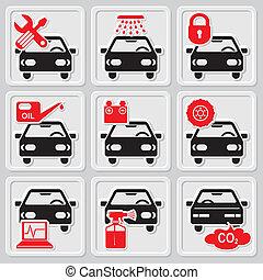 Autoreparatur-Ikonen
