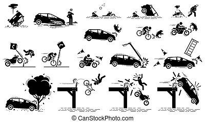 autounfall, straße gefahr, verkehr, mishap.