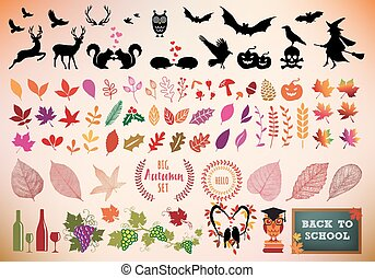 Autumn Icon Set, Vektor.