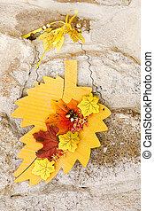 Autumn noch Lebensdekoration über Stein.