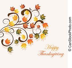 Autumnal hinterlässt Hintergrund für Thanksgiving oder Saison-Design.