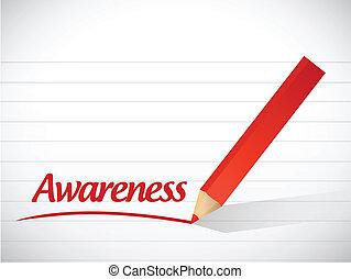 Awareness Zeichen Botschaft Illustration Design.
