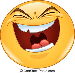 Böse Lach-Emoticon.