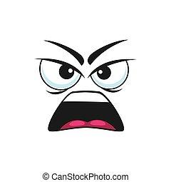 böser , emoticon, schreien, emoji, freigestellt, schreien