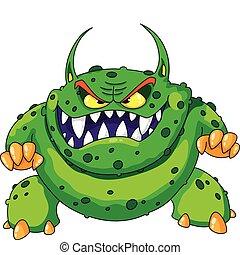 böser , grünes monster