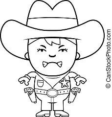 Böser, kleiner Cowboy.