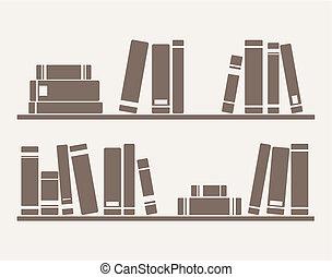 Bücher auf dem Regal-Vektor