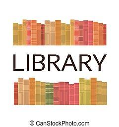 Bücher stapeln Bücher, die Bücher lesen.