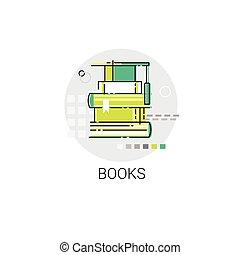 Bücher stapeln Bildung Konzeptbibliothek Icon.