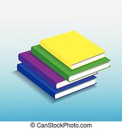 Bücher stapeln.