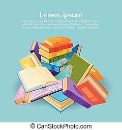 Bücher stapeln Schulbildungskonzept.