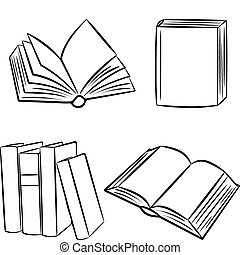 Bücher. Vektor Illustration.