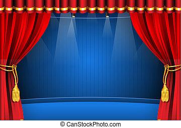Bühne mit Vorhang