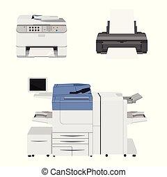 Büro Multifunktions-Druckerscanner. Kopieren Sie Maschinen und Drucker