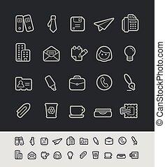 Büro- und Geschäfts-Icons // schwarz.